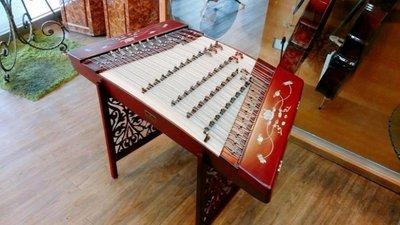 (((Musicman)))新402精選專業演奏級精品紅木貝雕荷花揚琴  現貨 台中市