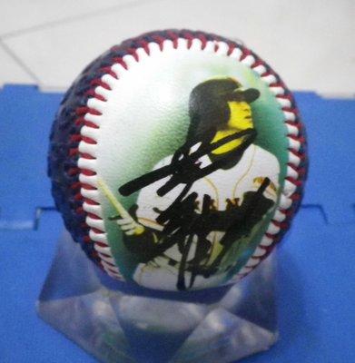 棒球天地--全台唯一--讀賣巨人監督 高橋由伸 簽名照片球.字跡漂亮..日本空運來台