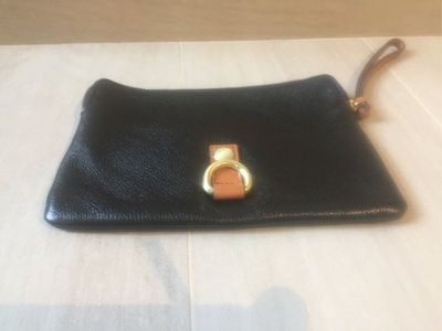 "【GAP】原裝 黑色 皮包 袋 銀包 black leather wallet 8""x6"" (100%全新) 原 $190"