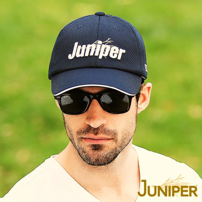 JUNIPER 中性透氣抗UV棒球帽 J7560丈青 遮陽帽 棒球帽 防曬帽 抗UV 喜樂屋戶外休閒
