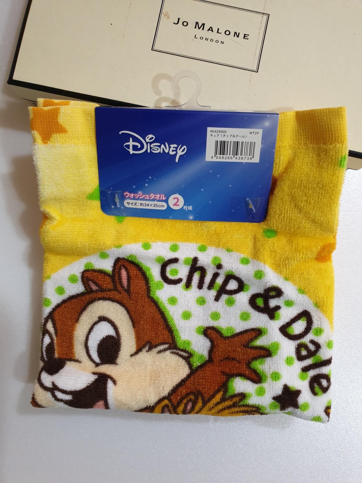 《Amys shop》日本直購~超可愛迪士尼卡通系列圖案米奇/小美人魚/玩具總動員純棉洗臉毛巾2入組~現貨