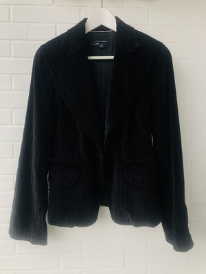Banana Republic  黑色條紋天鵝絨西裝外套