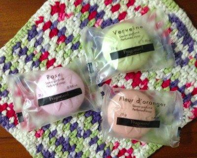 法國Fragonard法格那純香花草系香氛皂 (玫瑰/橙花/馬鞭草) 一組共3顆 可加購