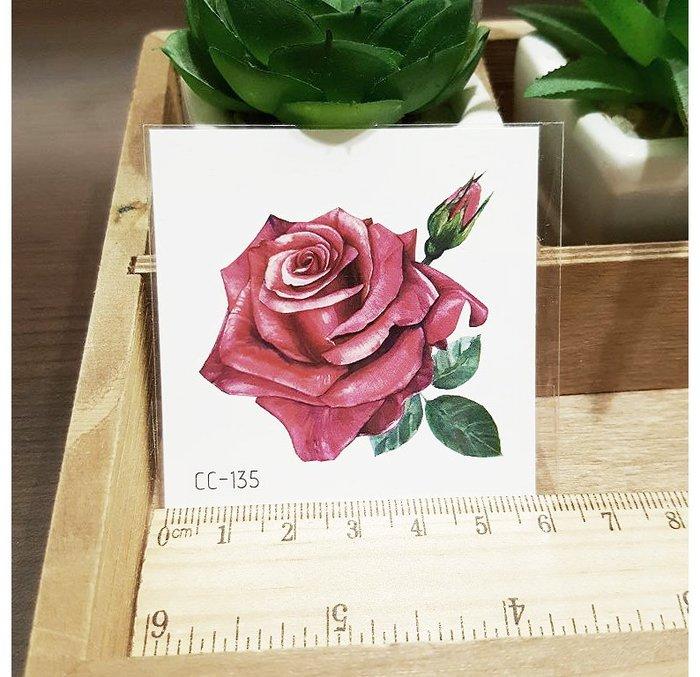 【萌古屋】花朵單圖CC-135 - 防水紋身貼紙刺青貼紙K38