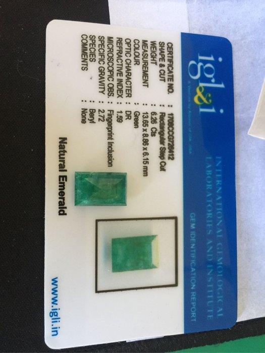 天然超美袓母綠寶石6.26克拉國際證書
