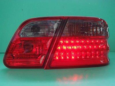 ☆小傑車燈家族☆全新外銷高品質賓士W210 紅黑晶鑽LED尾燈特價中 depo大廠製