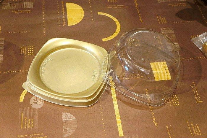 塑膠盒_BP3567低蓋金底_20入_BP3567-3◎圓形.蛋糕盒.塑膠盒.置物盒.金底.嵌合