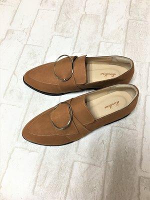 現貨出清~台灣手工製 全真羊皮休閒鞋–棕色 1319-23   米蘭風情