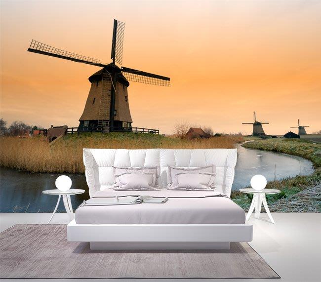 客製化壁貼 店面保障 編號F-480 荷蘭風車 壁紙 牆貼 牆紙 壁畫 星瑞 shing ruei