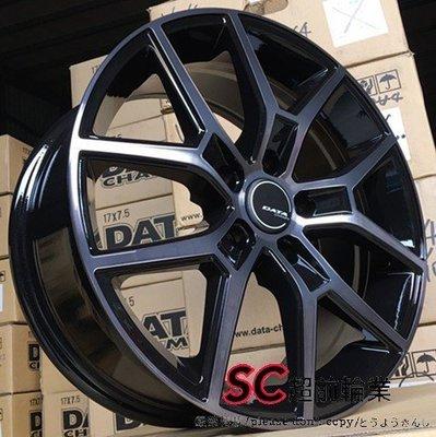 【超前輪業】DATA VL-02 VL02 17吋鋁圈 5孔114 112 108 黑底車面 完工價 4000 GOLF
