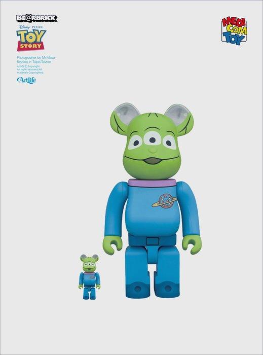 Artlife @ MEDICOM BE@RBRICK 100+400% ALIEN 玩具總動員 三眼怪