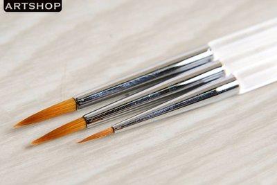 【Artshop美術用品】韓國 Rubens 魯本斯 320 水晶桿3入組筆(2)「圓#0 #2 #3」