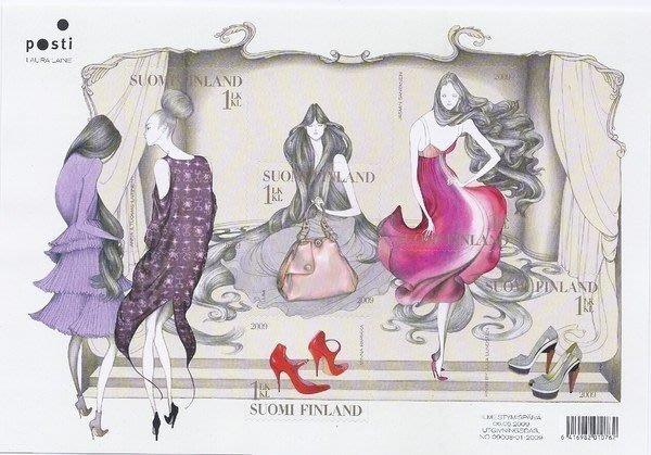 2009年芬蘭Fashion自黏郵票小全張