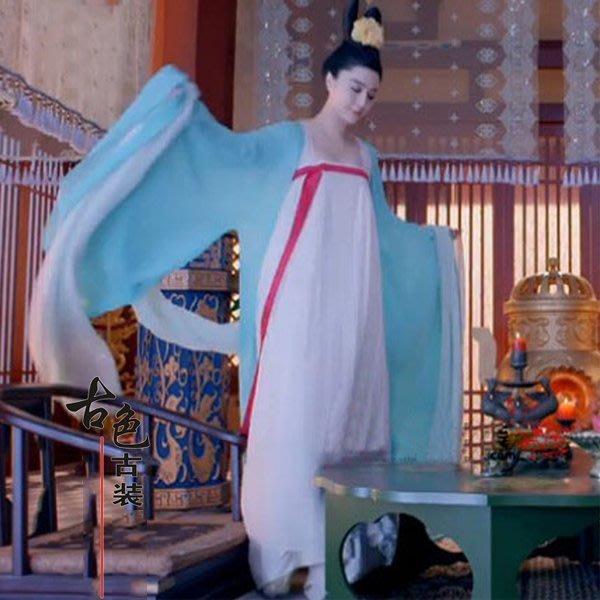 5Cgo【鴿樓】會員有優惠 43208077287 武則天武媚娘傳奇古裝齊胸襦裙 舞蹈漢服 武才人舞蹈演出服裝 古裝