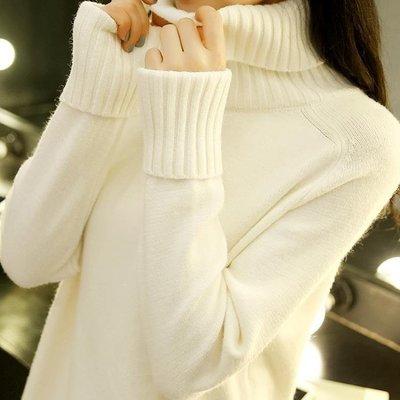 日和生活館 高領毛衣女秋裝正韓寬鬆套頭學生長袖針織打底衫秋冬百搭S686