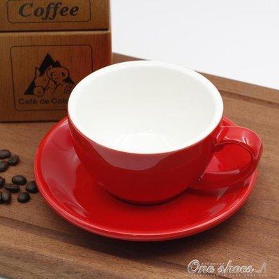 ZIHOPE 拿鐵咖啡杯 300ML歐式陶瓷加厚美式卡布奇諾專業拉花咖啡杯碟套裝ZI812