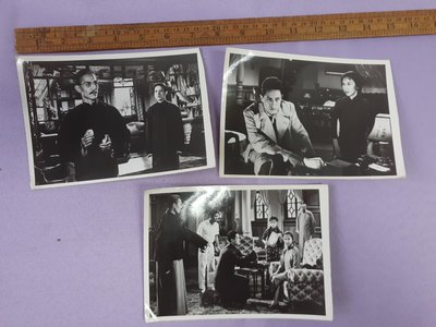 老照片黑白相片3張 電影 雷雨 劇照 5x7吋