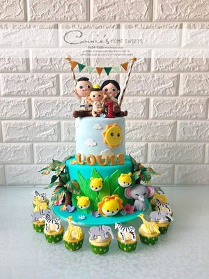 【Connie's Home Sweets】Forest Jungle theme birthday cake 百日宴蛋糕 生日蛋糕 birthday cake