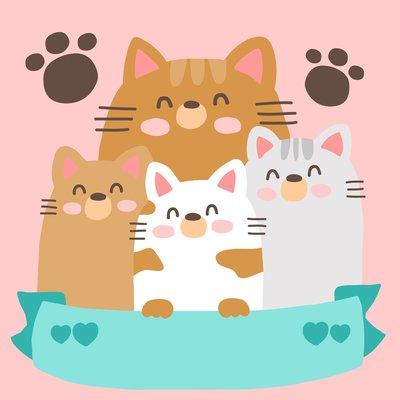 ArtLife藝術生活 DIY 彩繪 數字油畫 裝飾畫【DR077】貓咪家族 20*20cm