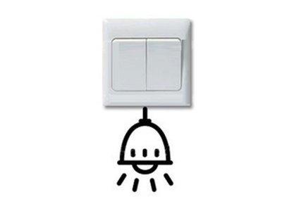 壁貼工場-可超取 小號壁貼 牆貼 貼紙 開關貼- 組合貼 HK342 燈