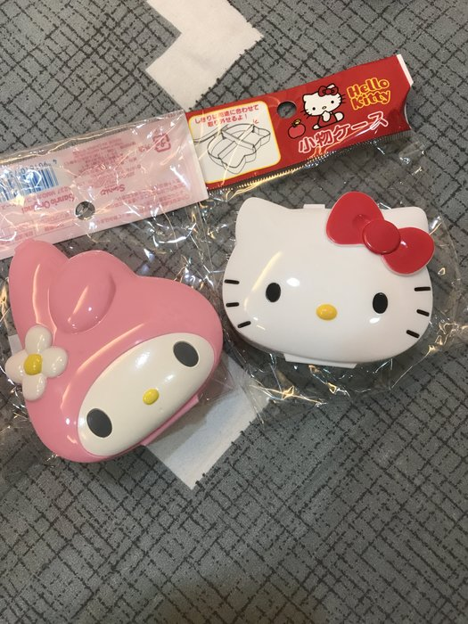 *凱西小舖*日本正版三麗鷗KITTY凱蒂貓 MELODY美樂蒂頭型造型收納小盒