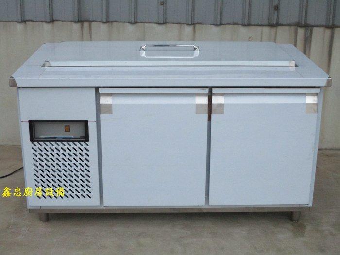 鑫忠廚房設備-餐養設備:手工冰箱系列-訂做各式工作檯沙拉吧冰箱-賣場有-西餐爐-烤箱-水槽-快炒爐