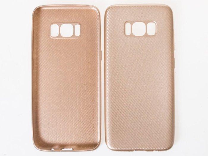 三星手機*Samsung Galaxy S8 Plus 碳纖維超薄防摔保護套  土豪金 ZA-40310
