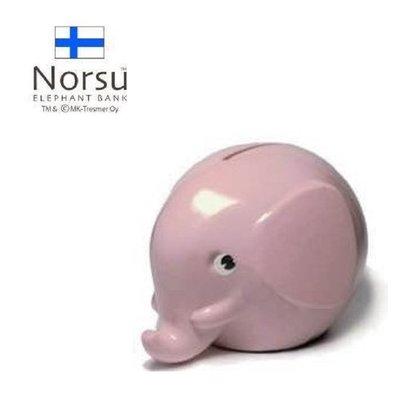 日本進口 北歐雜貨 芬蘭製 Norsu 大象造型 新款限量存錢桶 粉