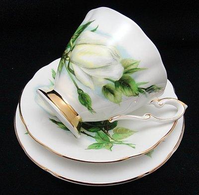 【timekeeper】 英國製Paragon派拉岡世界六大玫瑰系列三件式咖啡杯+盤-6(免運)