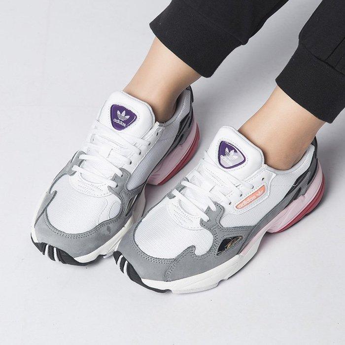 Washoes adidas Originals W Falcon 白 灰 粉 CG6214 老爹鞋 老爸鞋 女鞋03