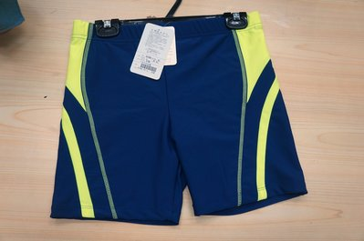KINI 特賣- APPLE 蘋果牌107302 萊卡- 大男 短泳褲-時尚藍底螢光邊紋 M-XL 特價580元