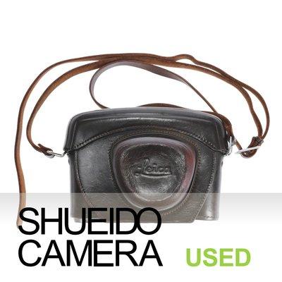 集英堂写真機【全國免運】良上品 LEICA 徠卡 原廠皮製保護套 相機皮套 3/8 螺紋孔用 #242 18654