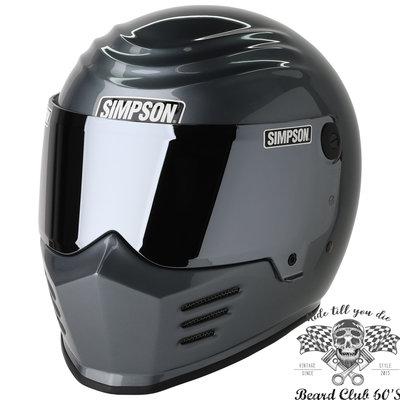 ♛大鬍子俱樂部♛ Simpson® Outlaw 美國 辛普森 復古 CAFE 經典款 全罩 安全帽 金屬 灰色