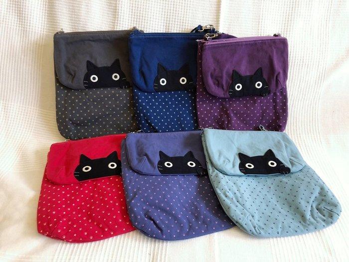 日本卡拉貓~大眼貓多用途防水母子包 斜背包