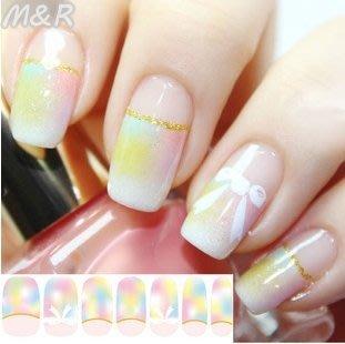 M&R 日本 百搭氣質款 粉嫩蝴蝶結 指甲貼美甲貼閃粉14全貼