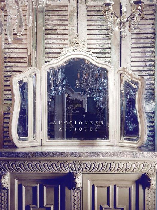 【拍賣師古董市集】歐洲古董1930年代法國洛可可三面鏡