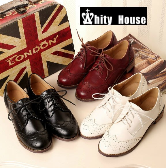 =WHITY=韓國GRAMMI品牌 韓國製  高級牛津鞋真皮舒適圓頭粗跟 大碼 特價 S4KG525