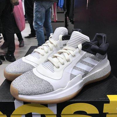 【免運實拍】ADIDAS MARQUEE LOW BOOST防滑高筒籃球鞋 愛迪達耐磨男鞋 灰白色運動鞋 D96933