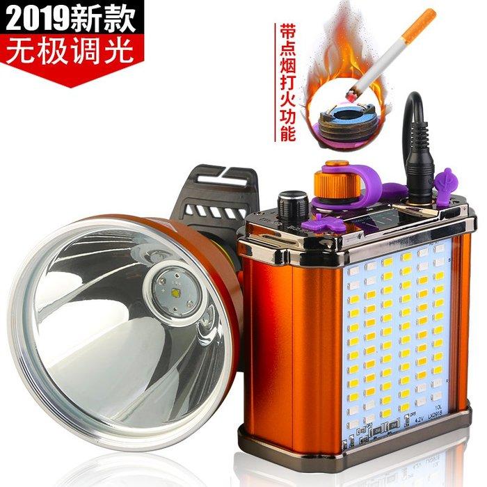 @生活家居城強光頭燈頭戴式高亮led礦燈充電超亮遠射戶外大光圈手電筒黃光燈