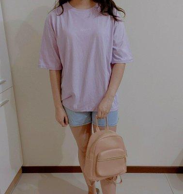 正韓製 minimal紫色短袖棉T