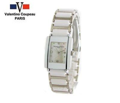 【JAYMIMI傑米】Valentino范倫鐵諾古柏陶瓷腕錶-白色陶瓷錶款-情侶對錶 小  原廠公司貨
