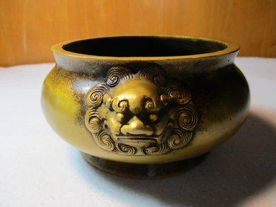 特價[中型古典黄銅爐] 大明宣德 黃金獅子富貴爐/主家興業興人興,財旺運旺福更旺,興不興只在勤,旺不旺只在明。主明以勤大吉!