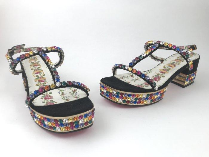 [我是寶琪] 全新未穿 GUCCI 水鑽復古涼鞋