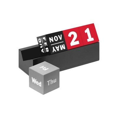 日曆Cubes Perpetual Calendar 積木萬年歷擺件 美國 MoMA 塑料材質