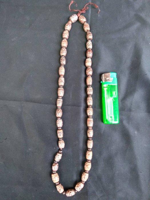 高古玉珠串(每顆珠1.2x1cm)