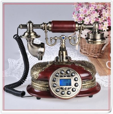 INPHIC-復古電話機歐式時尚復古家用固話座機電話機