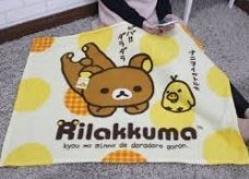 【正版】拉拉熊  刷毛毯/冷氣毯/車用毯/保暖毯/懶人毯