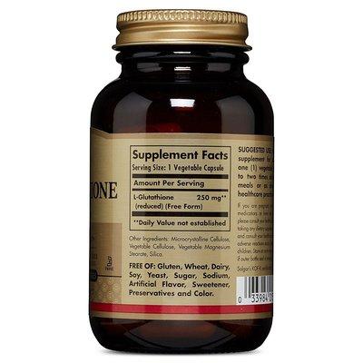 【Puritans美代購】直郵 Solgar Reduced L-Glutathione 250 mg 還原型谷胱甘肽 60粒