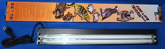 (8-67)ZOOLIFE省電型T 5 UVB5.3雙燈管含超薄鋁合金雙燈燈罩 12W 1.5呎