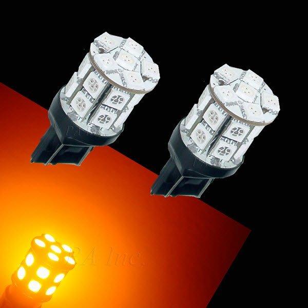 【PA LED】T20 7443 雙芯 20晶 60晶體 360度 SMD LED 黃光 後燈 煞車燈 方向燈